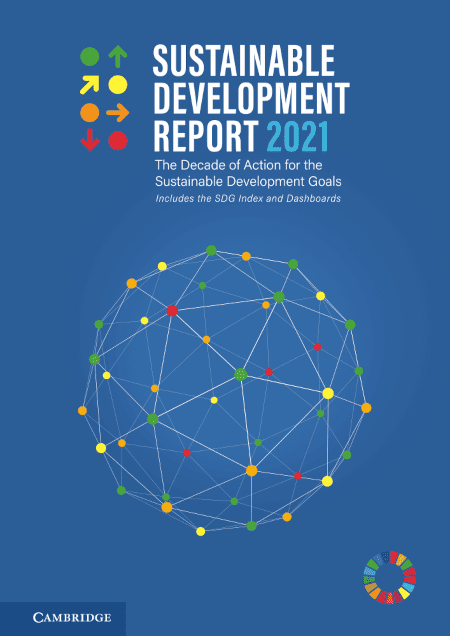 sustainable dev report cover 2021