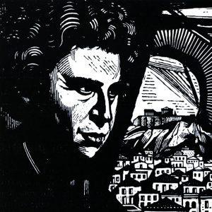 1985 10 13 Το πορτρέτο του Μ.Θ. χαρακτικό από τον Α.Τάσσο 300x300 1